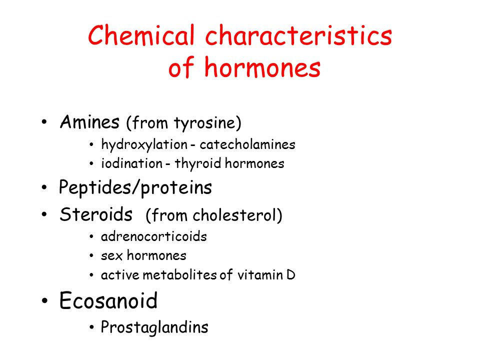 Chemical characteristics of hormones