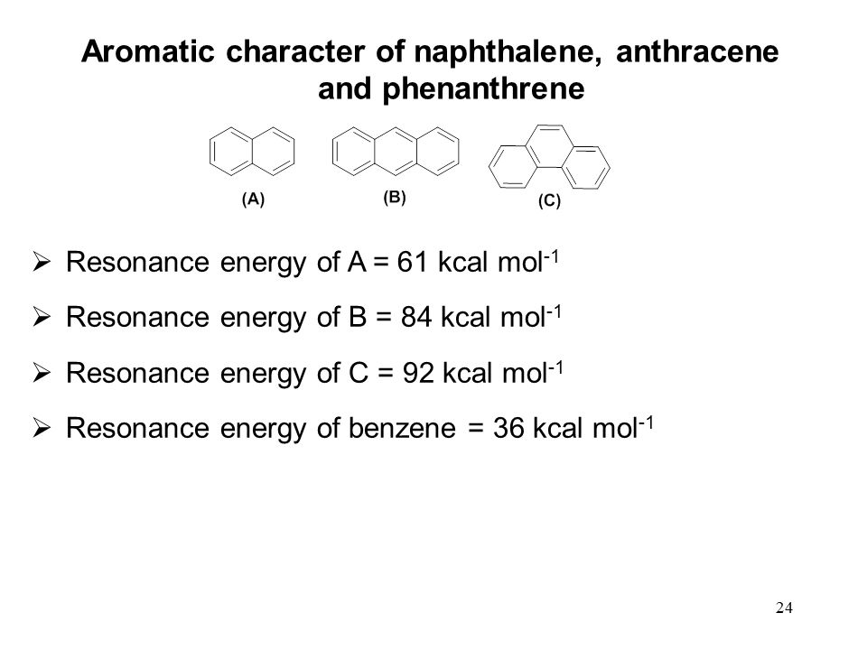 resonance energy of anthracene