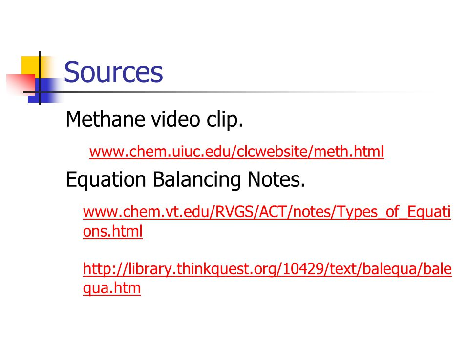 Sources Methane video clip.