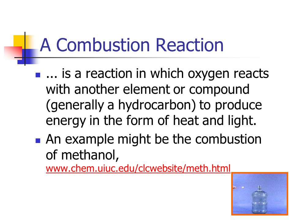 A Combustion Reaction