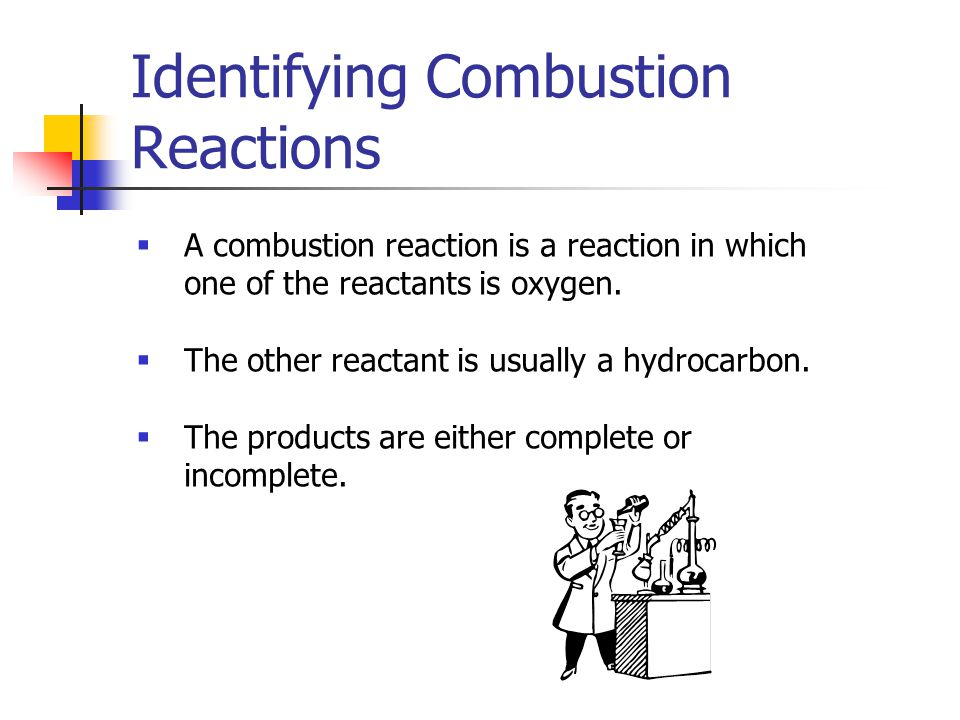 Identifying Combustion Reactions