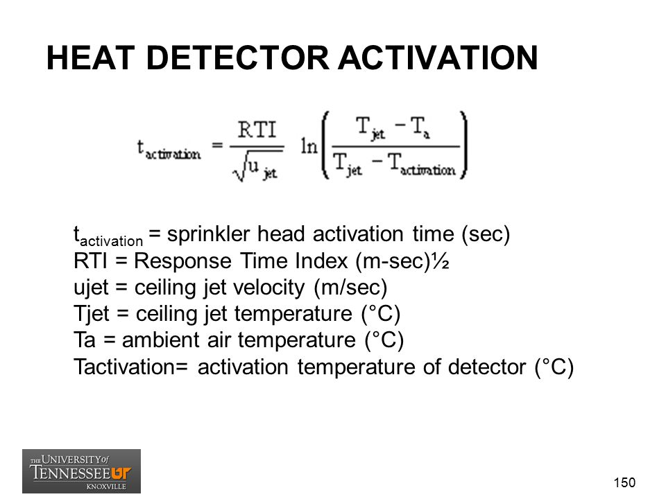 HEAT DETECTOR ACTIVATION