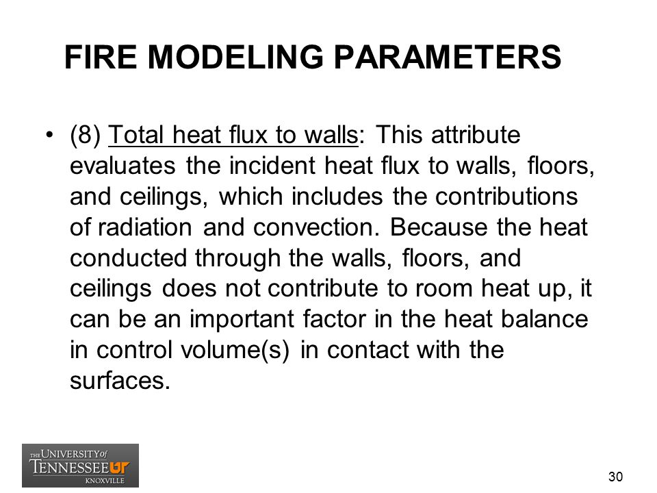 FIRE MODELING PARAMETERS