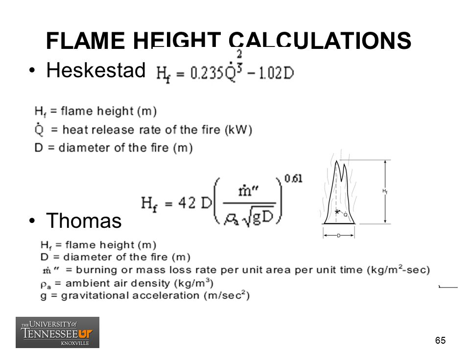 FLAME HEIGHT CALCULATIONS