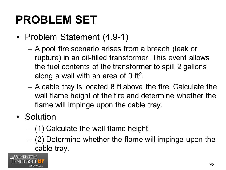 PROBLEM SET Problem Statement (4.9-1) Solution