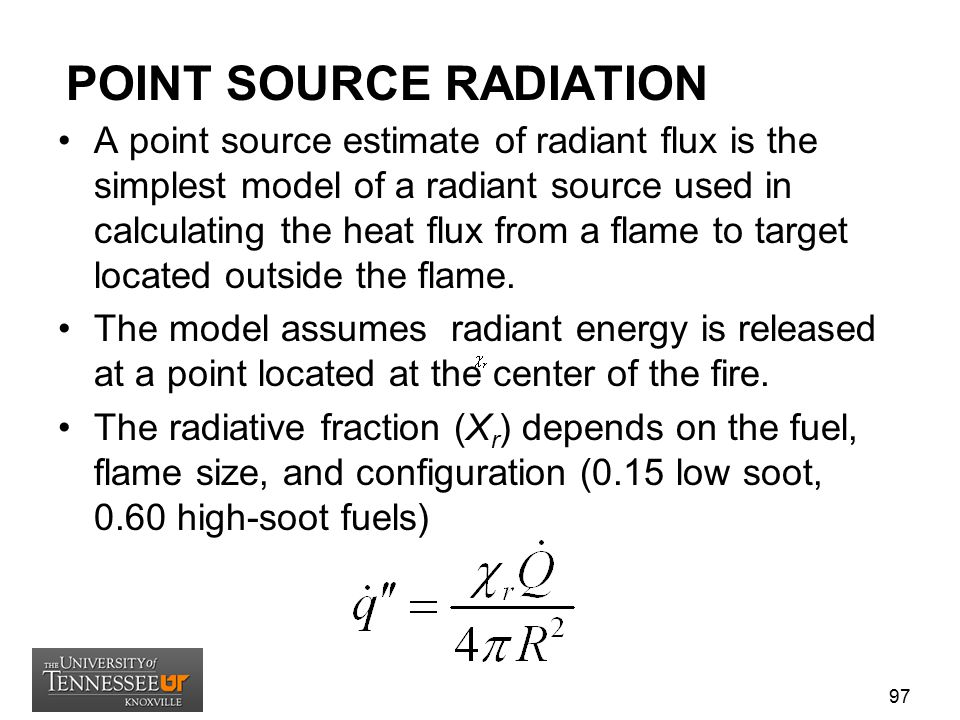 POINT SOURCE RADIATION