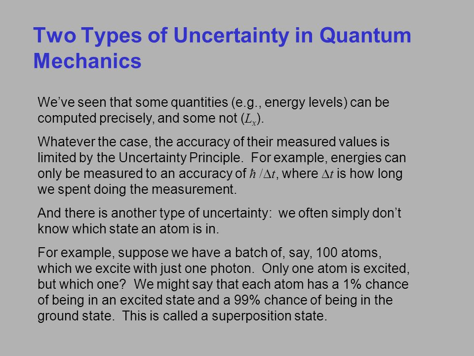 Two Types of Uncertainty in Quantum Mechanics