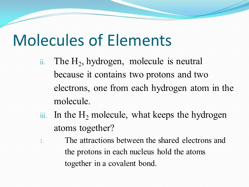 Molecules of Elements