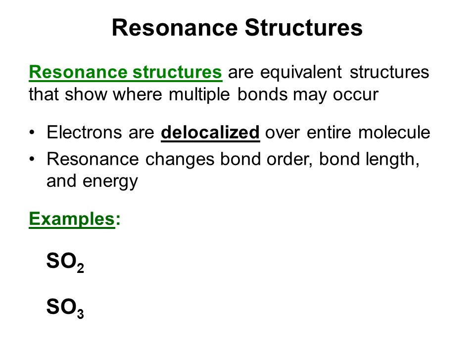 Resonance Structures SO2 SO3