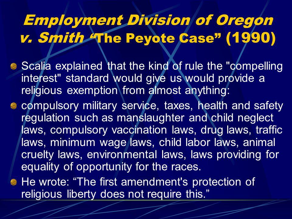 employment division v smith