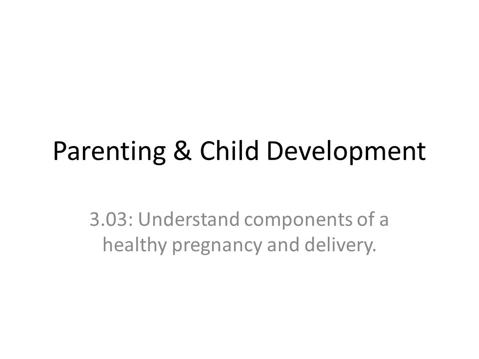 Parenting & Child Development