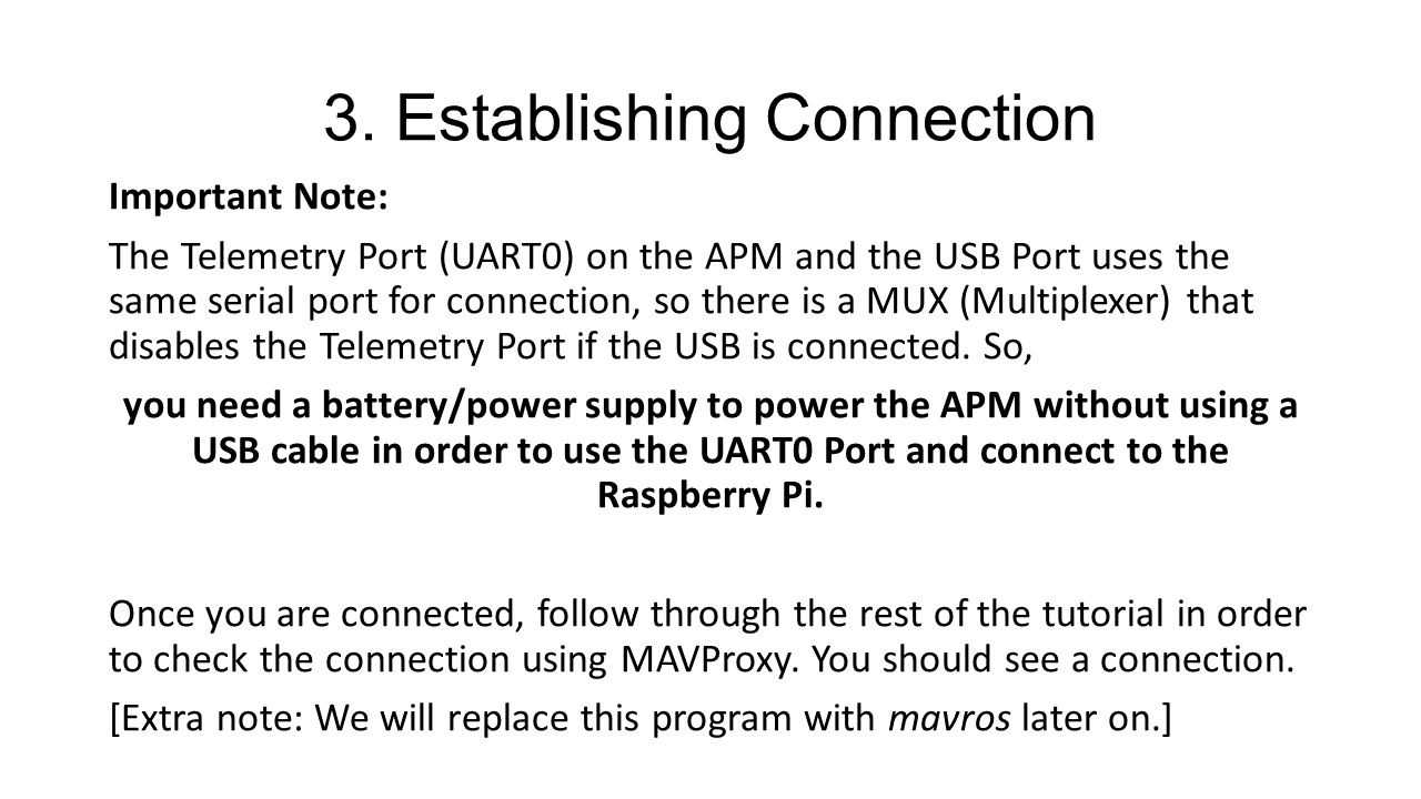 Raspberry Pi <-> APM 2 6 Communication and Control - ppt