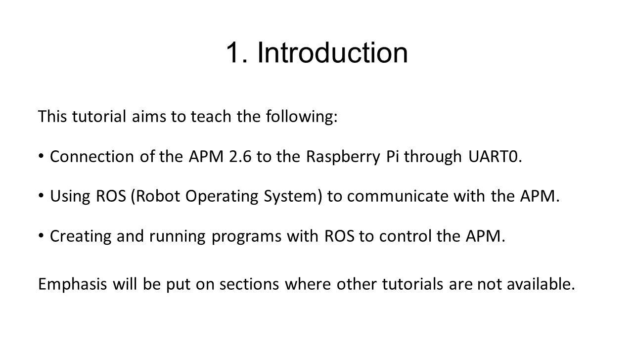 Raspberry Pi <-> APM 2 6 Communication and Control - ppt video