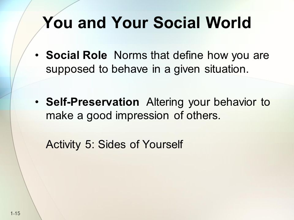 You and Your Social World