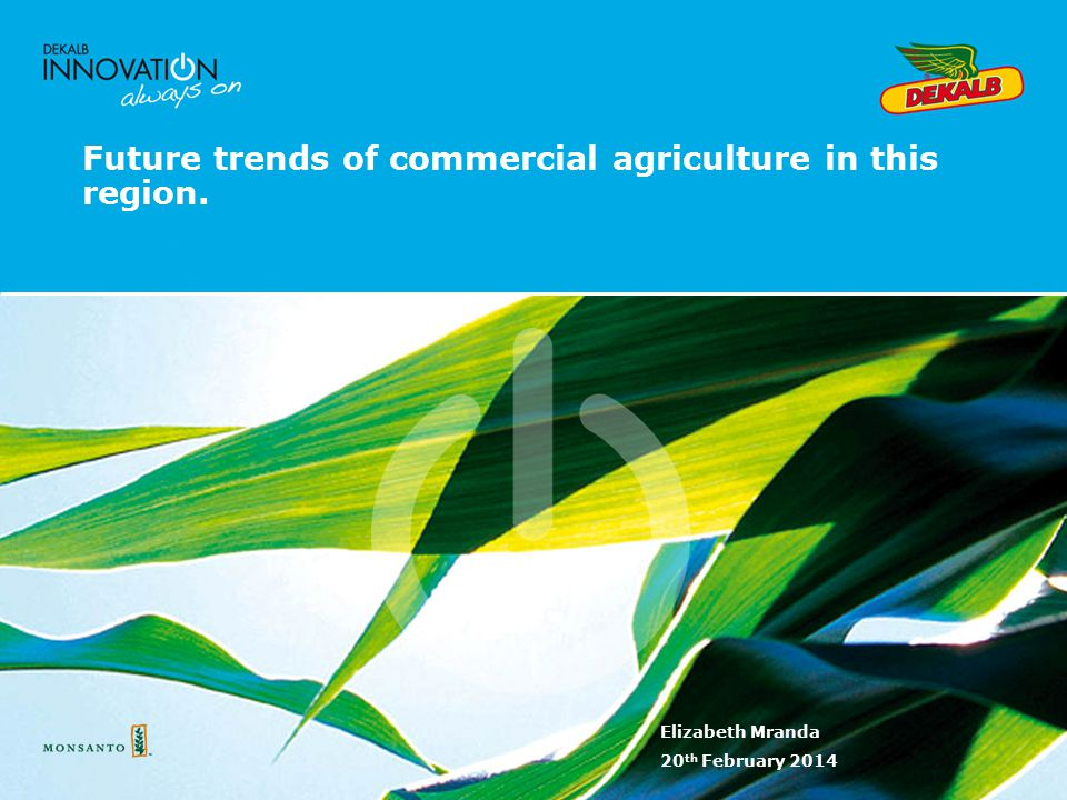 Future trends of commercial agriculture in this region.