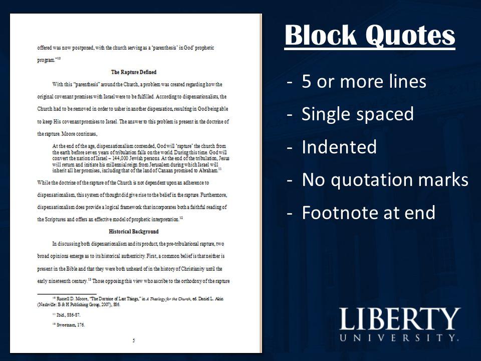 turabian block quotes