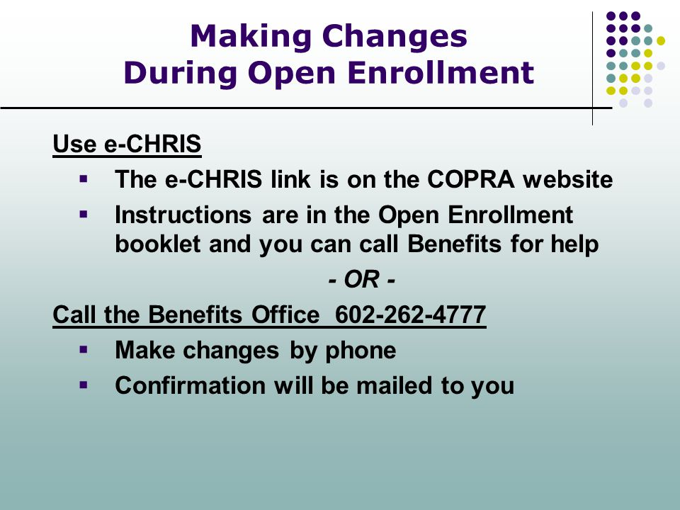 Making Changes During Open Enrollment