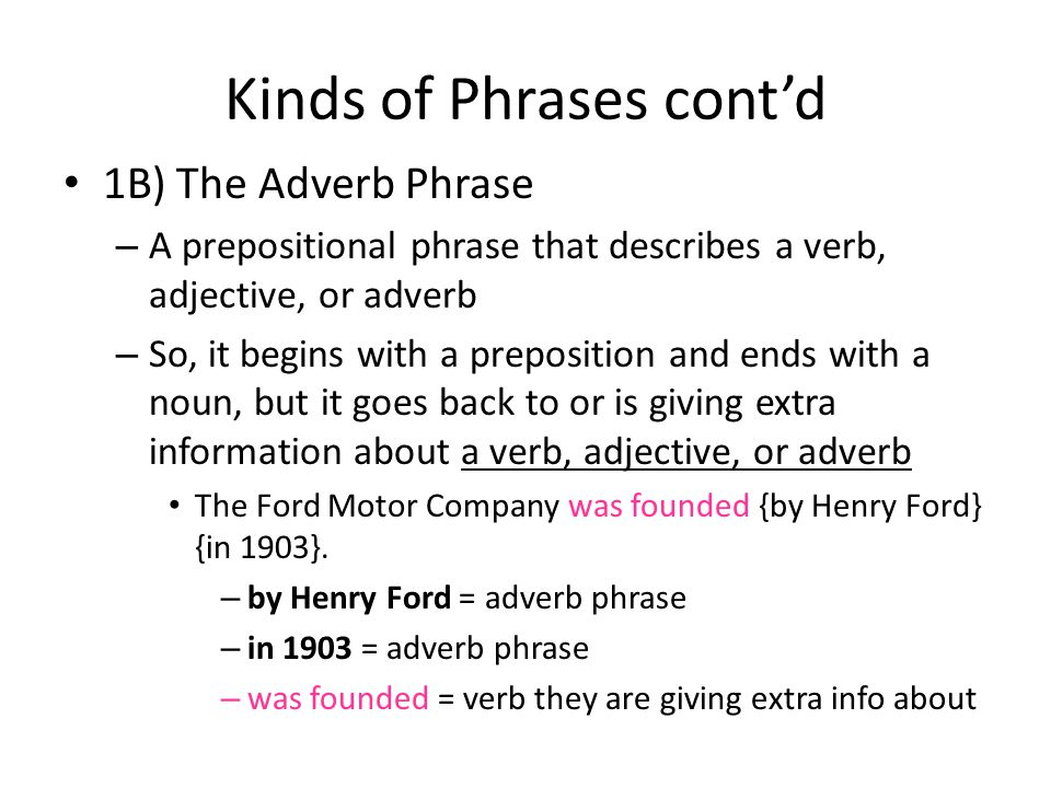 Adverb Phrases Worksheet - Checks Worksheet