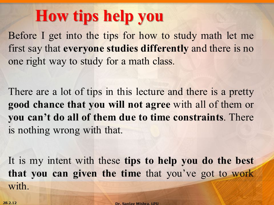 How To Study Mathematics - ppt video online download