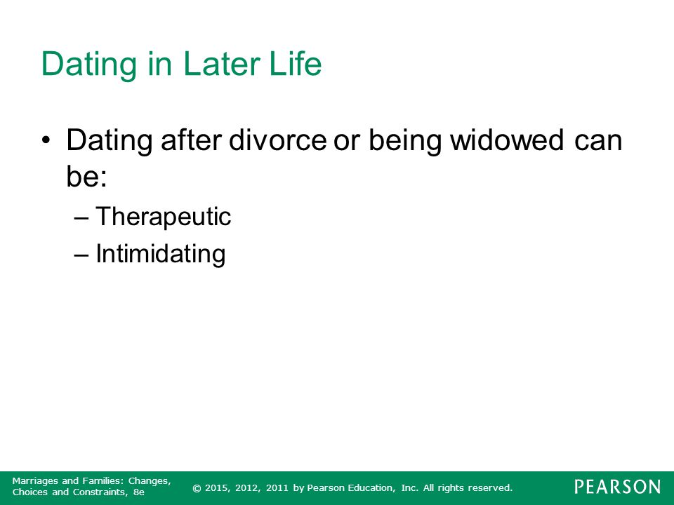dating after being widowed