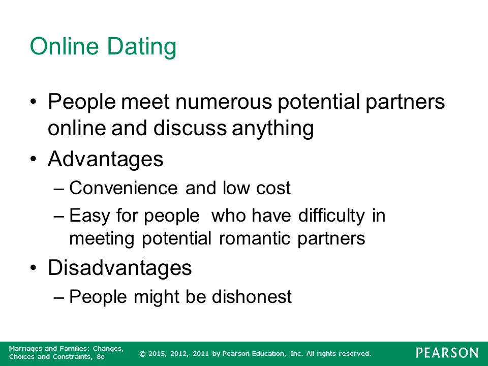 advantages and disadvantages to online dating