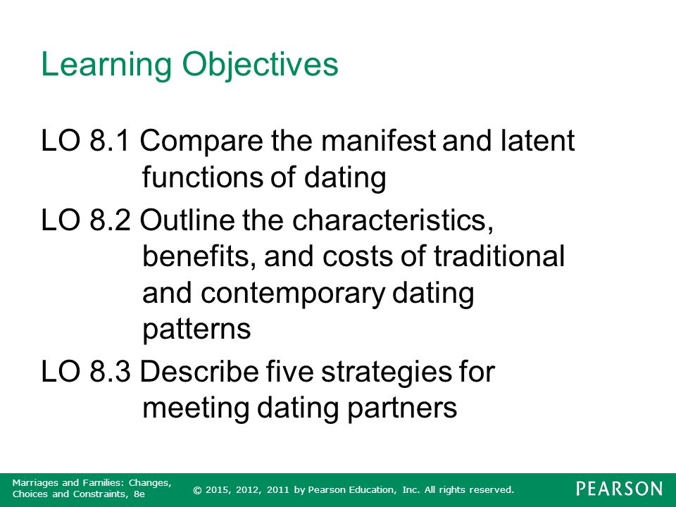 characteristics of traditional dating patterns