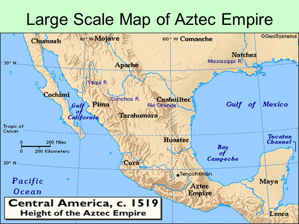 Aztec Empire World Map.Large Scale Map Of Aztec Empire Ppt Video Online Download