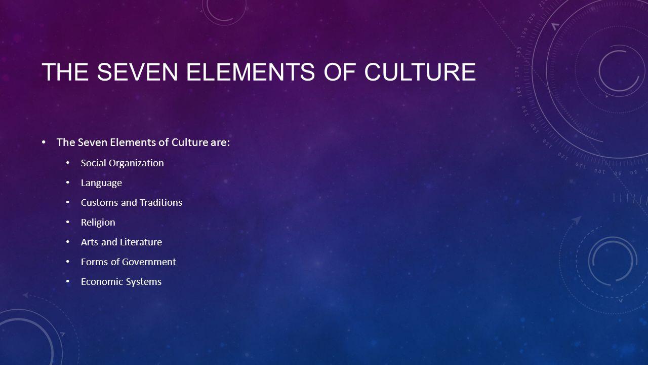 seven elements of literature