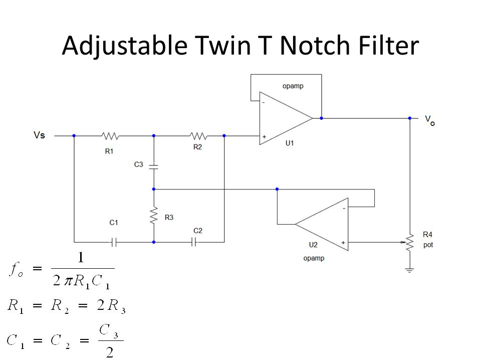 twin t notch filter ppt video online downloadAdjustable 60hz Filter #10