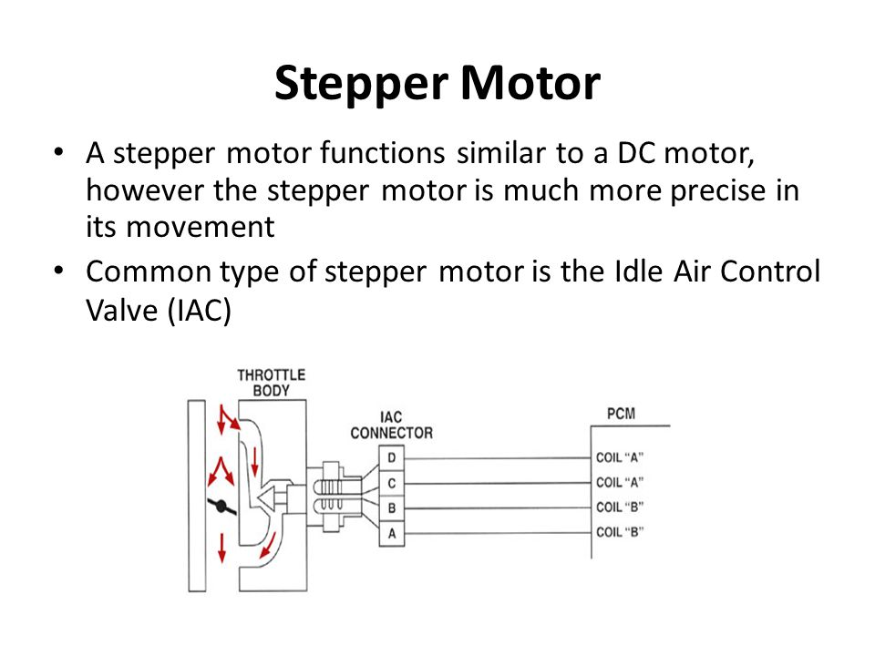 Stepper Motor A stepper motor functions similar to a DC motor, however the stepper motor is much more precise in its movement.