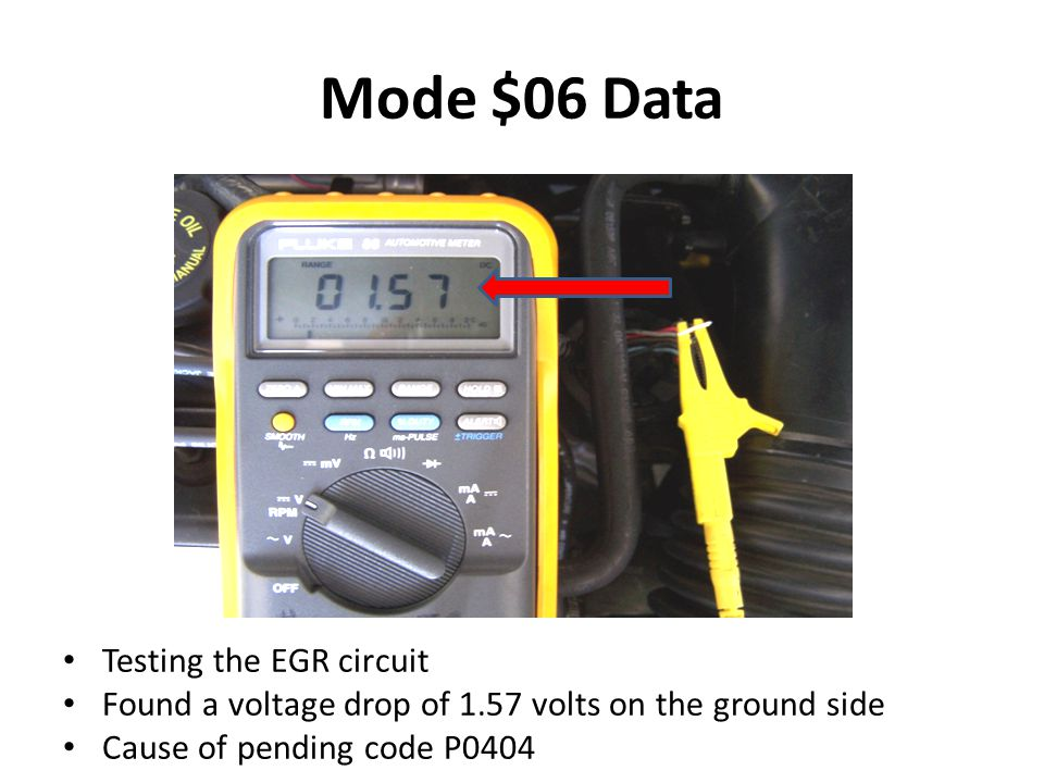 Mode $06 Data Testing the EGR circuit