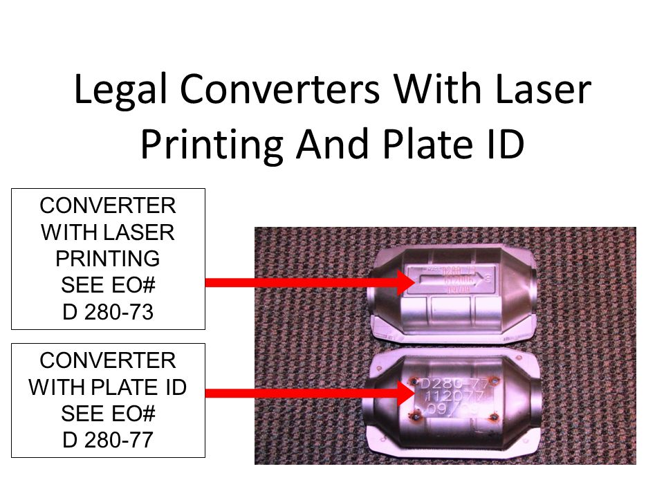 Legal Converters With Laser Printing And Plate ID