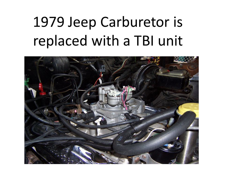 1979 Jeep Carburetor is replaced with a TBI unit