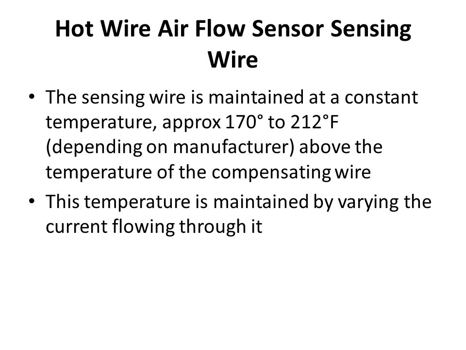 Hot Wire Air Flow Sensor Sensing Wire