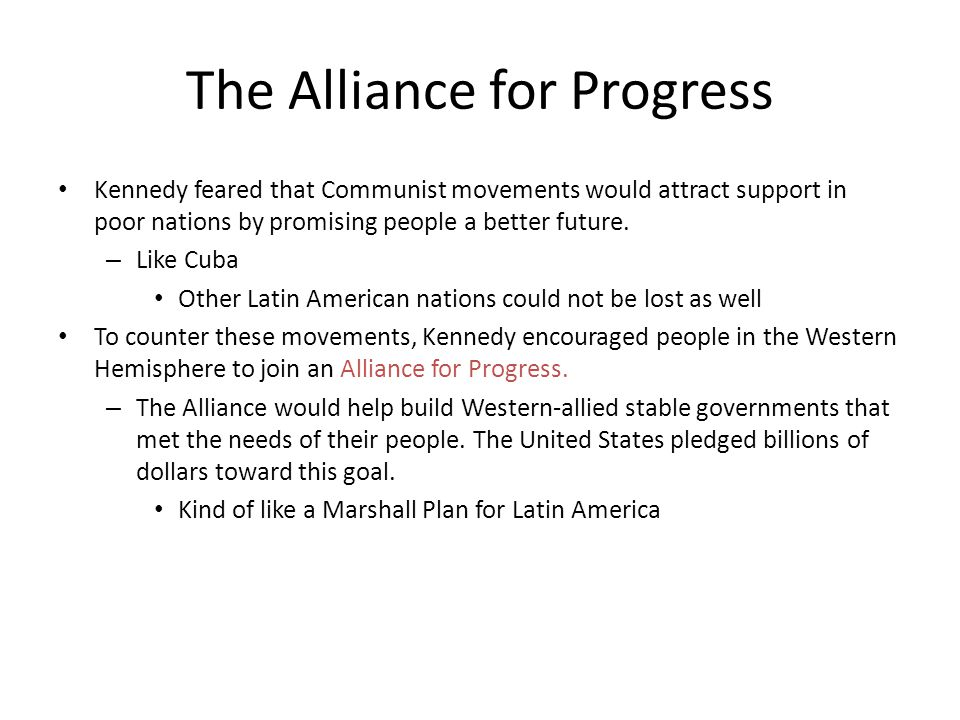 The Alliance for Progress