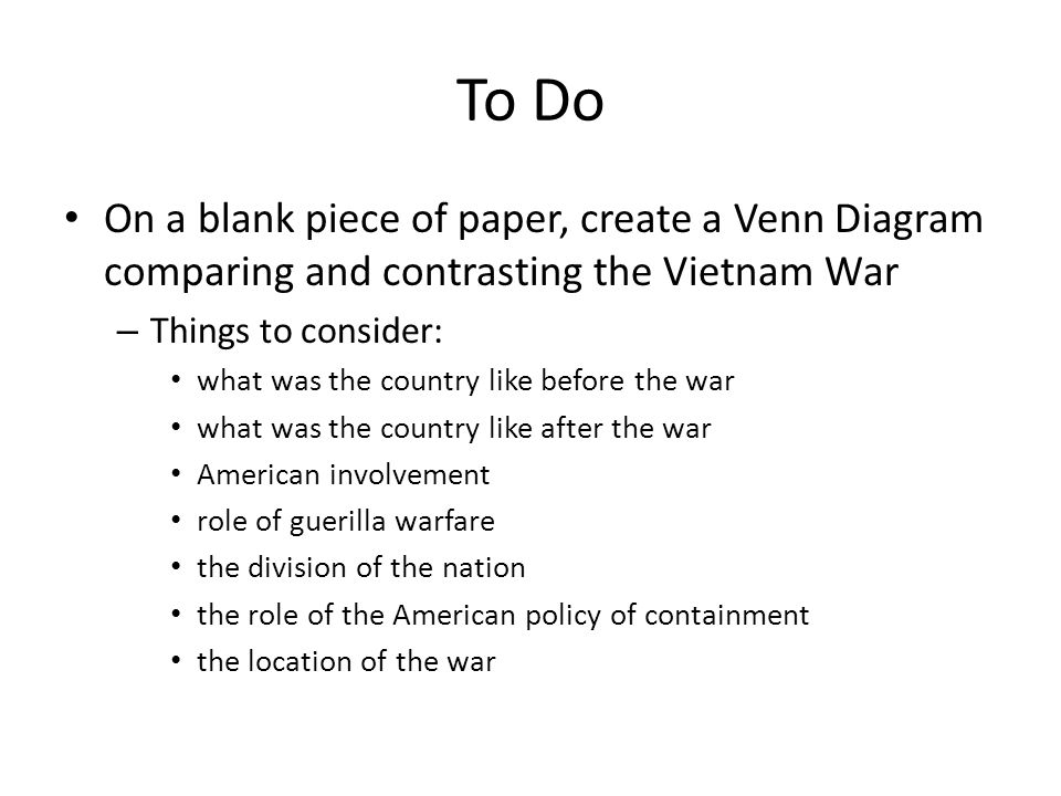 The cold war the korean and vietnam wars ppt video online download to do on a blank piece of paper create a venn diagram comparing and contrasting ccuart Images