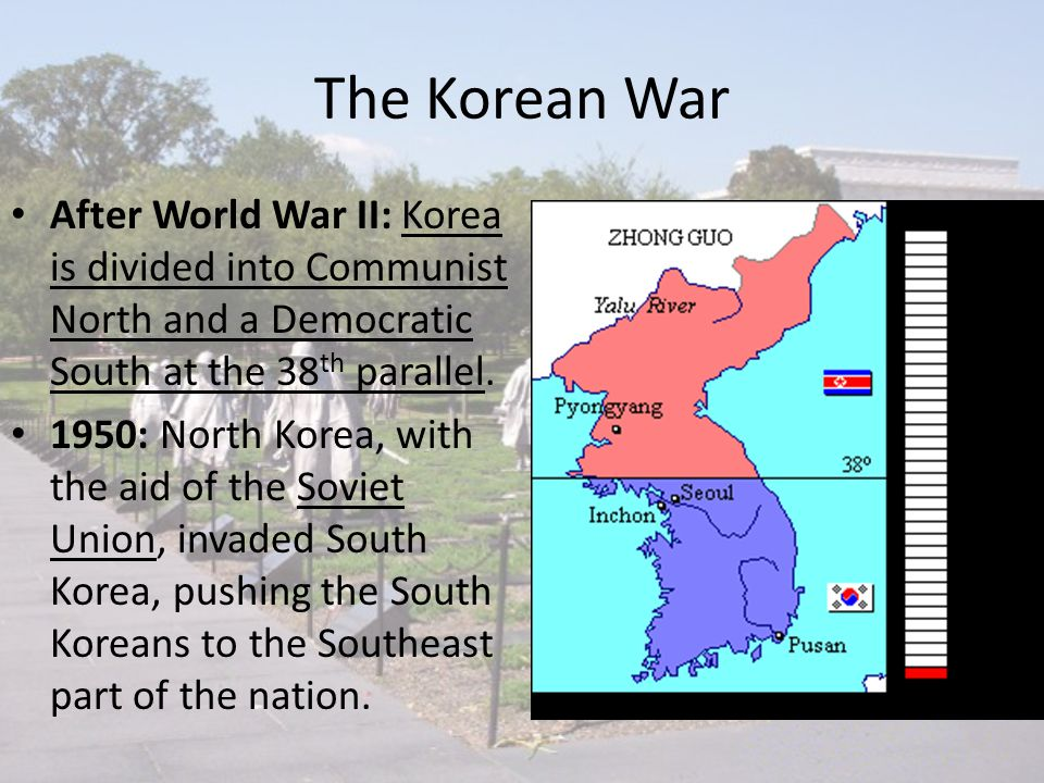 The cold war the korean and vietnam wars ppt video online download the korean war after world war ii korea is divided into communist north and a ccuart Images