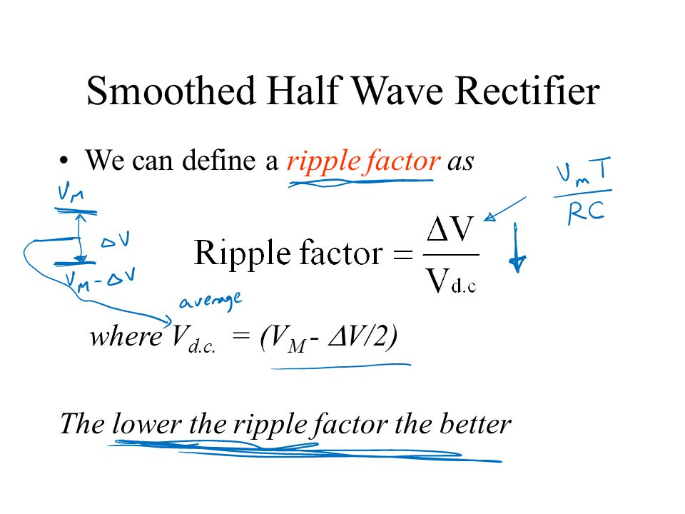 Diode Applications Half wave rectifier and equivalent