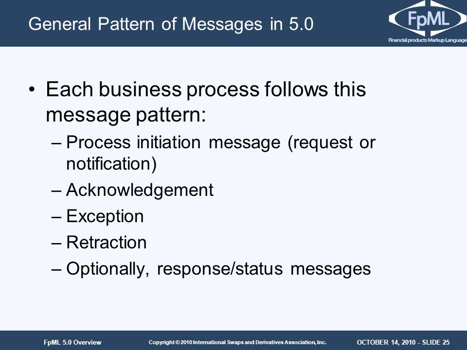 General Pattern of Messages in 5.0