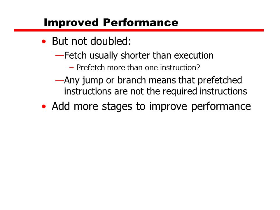 Add more stages to improve performance