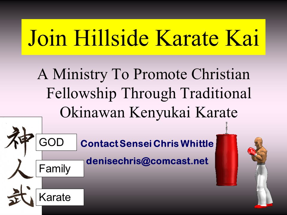 Join Hillside Karate Kai