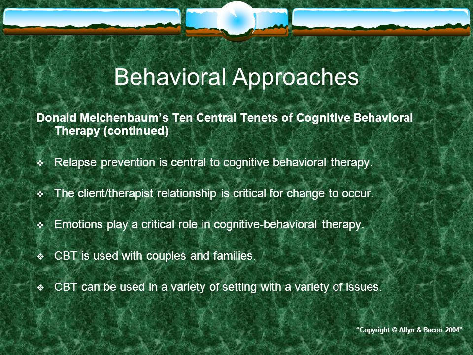 relapse prevention therapy a cognitive behavioral approach