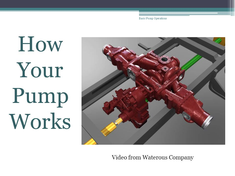 welcome to basic pump operations ppt download rh slideplayer com Waterous Parts List Fire Pump Installation Diagram