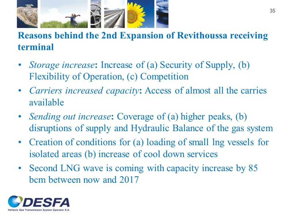 Reasons behind the 2nd Expansion of Revithoussa receiving terminal