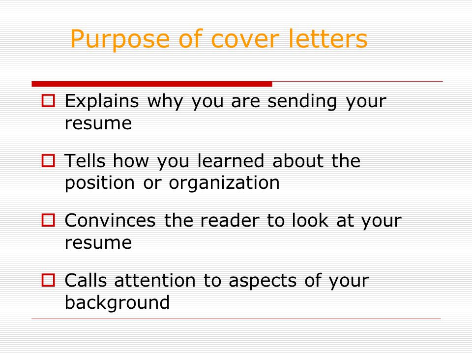 purpose of a cover letter cover letters ppt 24171 | Purpose of cover letters