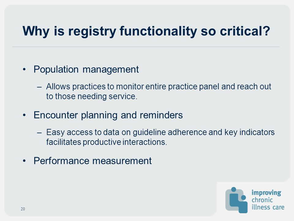 Why is registry functionality so critical