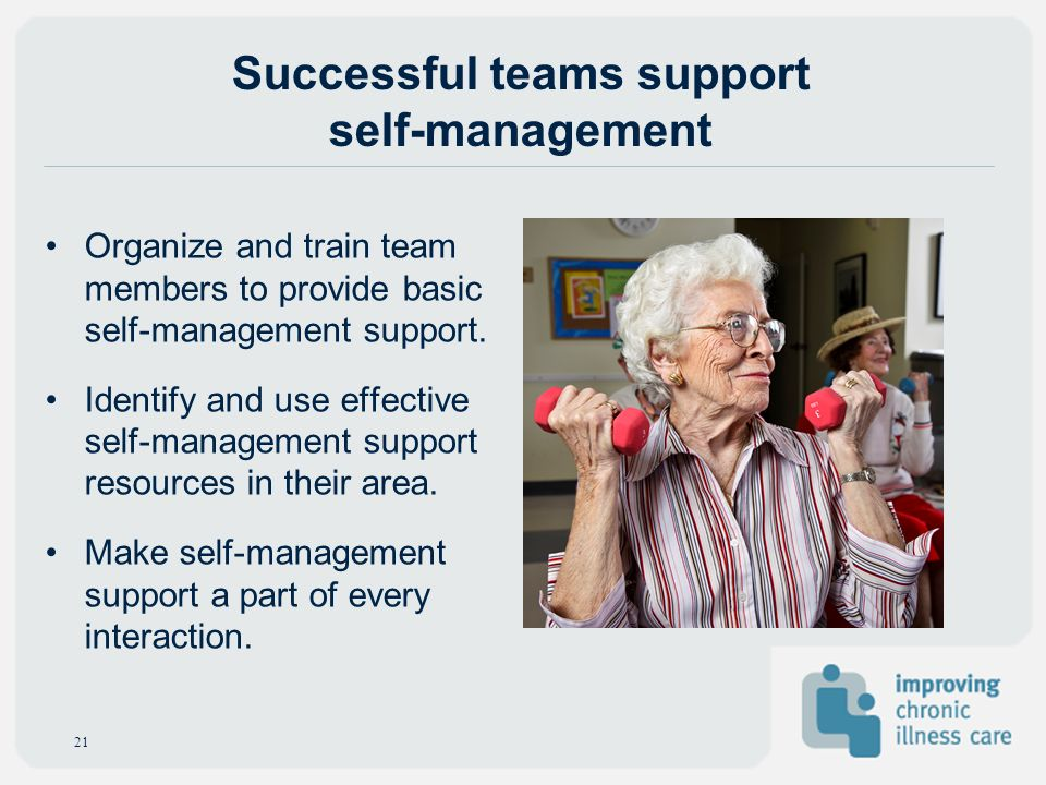 Successful teams support self-management