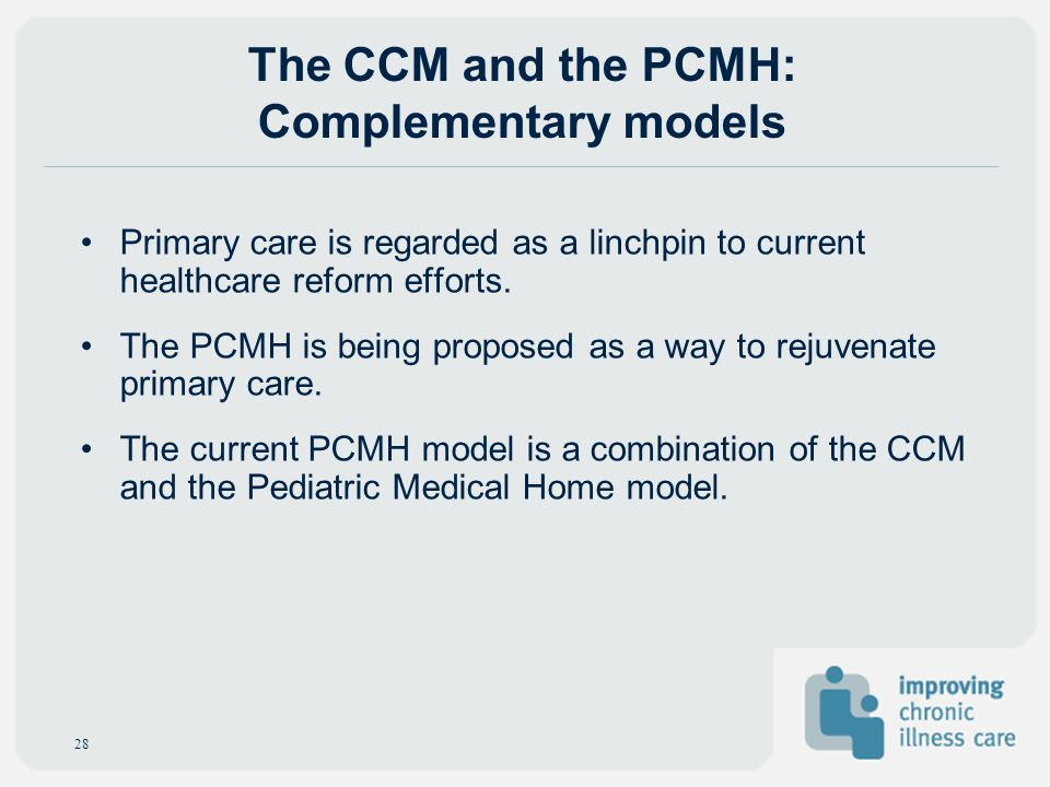 The CCM and the PCMH: Complementary models