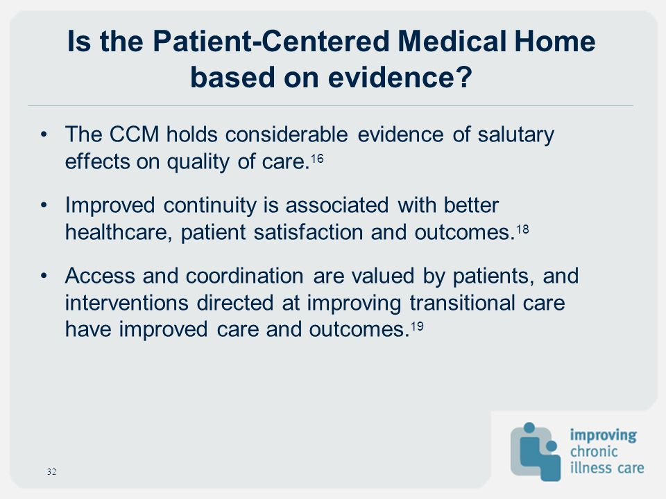 Is the Patient-Centered Medical Home based on evidence