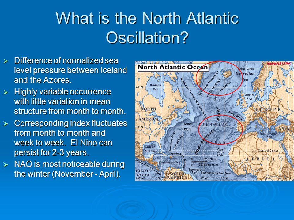 What is the North Atlantic Oscillation